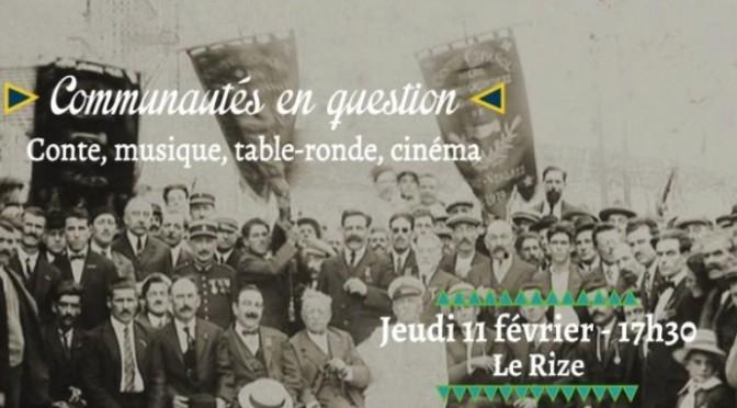 Table-ronde «les communautés en question» le 11/02 au Rize